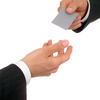 businessman offering his business card