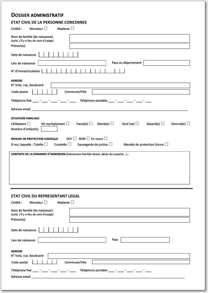 dossier unique de demande d admission